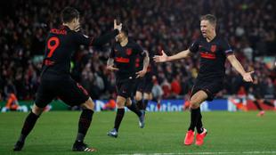 Marcos Llorente en la noche mágica contra el Liverpool