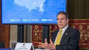 Andre Cuomo, gobernador de Nueva York, durante una rueda de prensa.