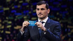 Casillas, durante el sorteo de la fase de grupos de la Eurocopa.