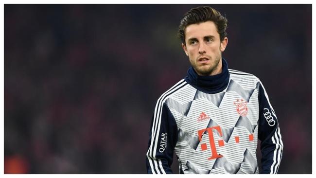 Odriozola, en la previa de un partido del Bayern.