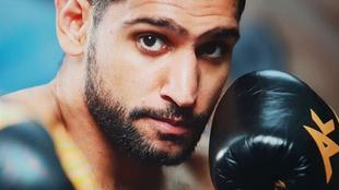El boxeador inglés Amir Khan