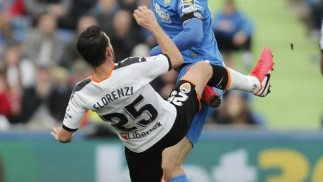 Florenzi, in a set of the League match against Getafe.