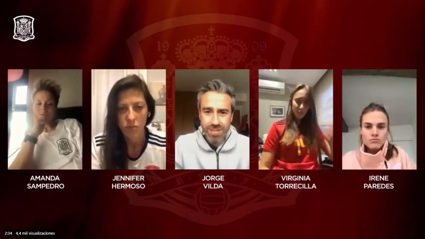 Jorge Vilda fait une conférence virtuelle avec les capitaines du ...
