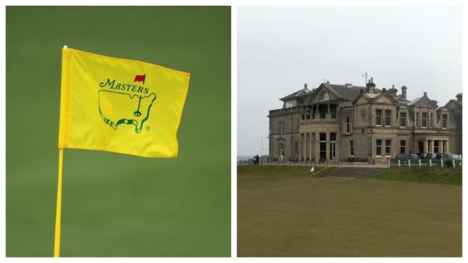 La bandera del Masters y el R&A en St. Andrews.