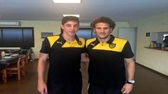 Valverde y Folrán, cuando ambos eran compañeros en Peñarol.