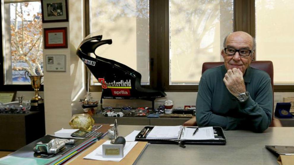 Ezpeleta, en su despacho de la sede de DORNA en Madrid.