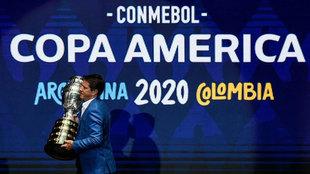 Juninho Paulista, con la Copa América.