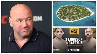 Dana White, presidente de UFC, a la izquierda.