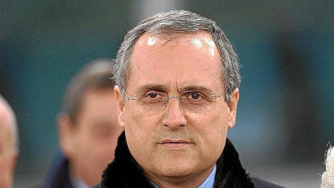 Lotito, presidente de la Lazio.