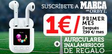 Suscríbete a MARCA Edición Digital por 1¤/primer mes y llévate unos auriculares inalámbricos gratis.