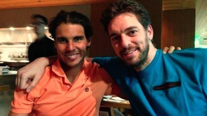 Rafa Nadal y Pau Gasol.