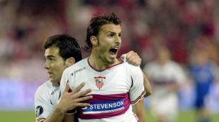 Puerta celebra el gol del 1-0 final.