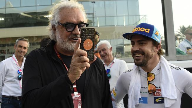 Briatore y Alonso.