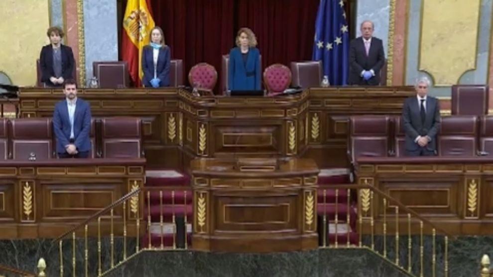 Congreso de los diputados: minuto de silencio por las victimas del...