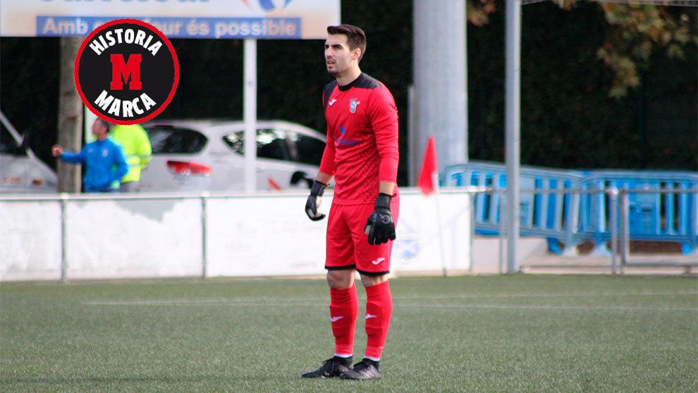 Andrés Díez durante un partido con el Prat esta temporada