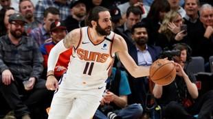 Ricky Rubio,en un partido de los Suns.