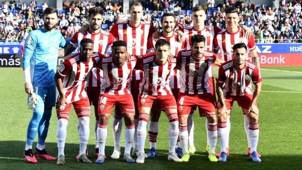 Uno de los últimos onces del Almería de esta temporada