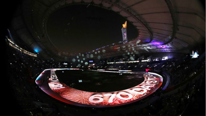 El Khalifa Stadium, de Doha, en la clausura de los Mundiales