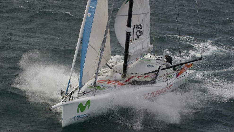 En este velero de 60 pies (20 metros) convivieron Xabi Fernández e...