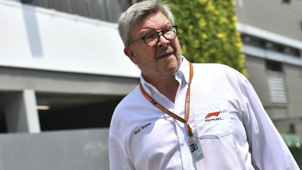 Rosss Brawn, director gerente de la F1, durante un Gran Premio.