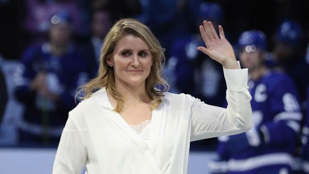 La tetracampeona olímpica de hockey hielo Hayley Wickenheiser.