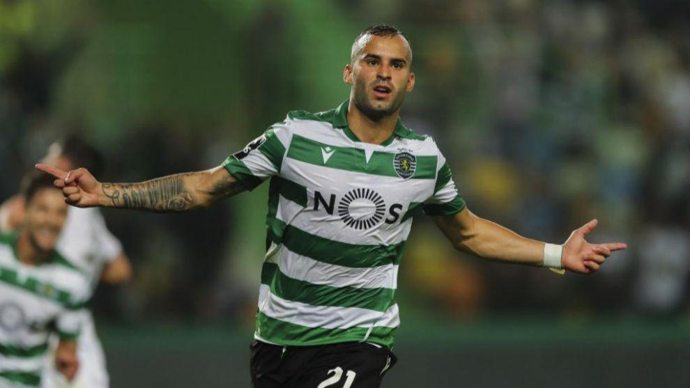 Jesé celebra un gol contra el Vitória Guimaraes.