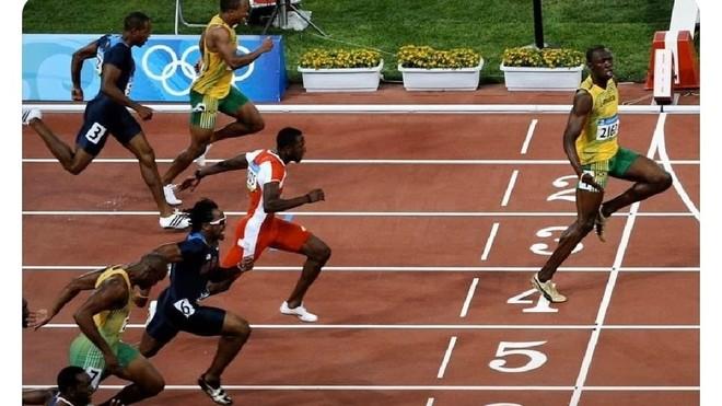 La curiosa manera de Usain Bolt para ilustrar el distanciamiento social