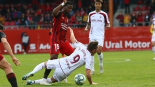 Malsa en un partido ante el Albacete.