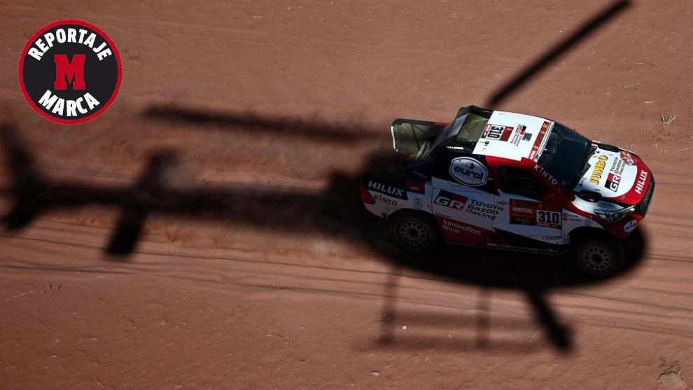 Fernando Alonso, durante el Dakar 2020.