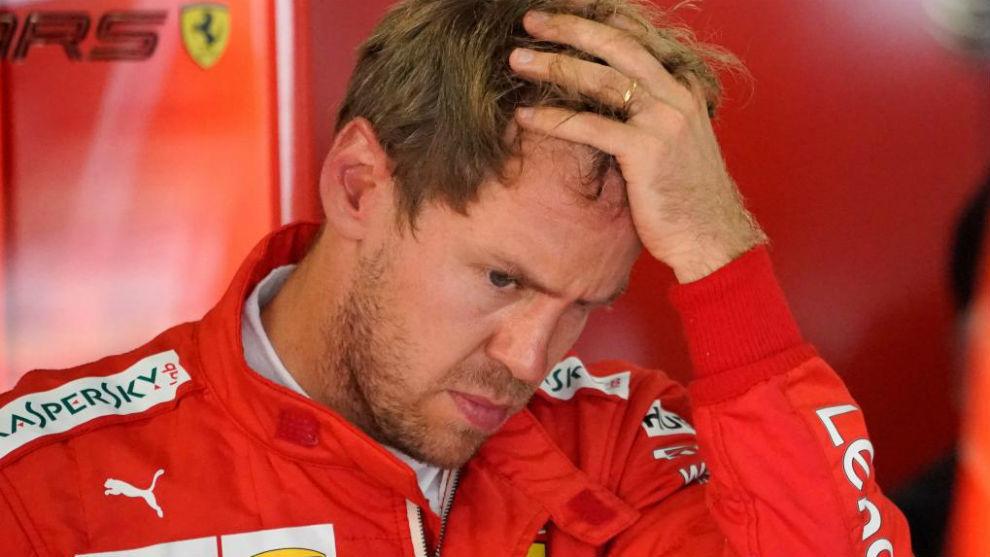 Vettel, en un Gran Premio de 2019.