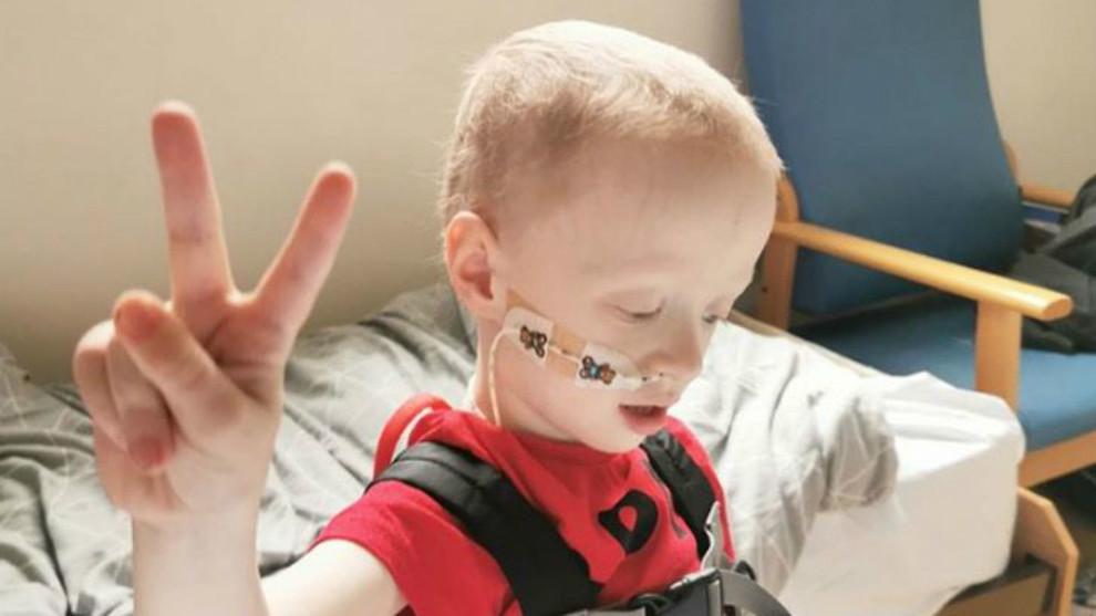 Archie Wilks, un luchador de cuatro años contra el cáncer que vence...