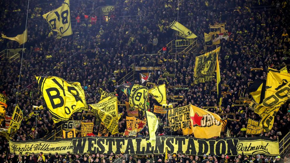 El 'muro amarillo' del Dortmund