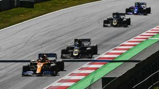 Sainz, en el GP de Austria 2019, donde remontó 11 puestos.