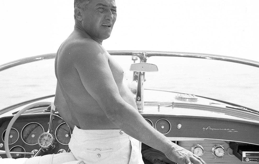 Ferruccio, disfrutando de su embarcación.