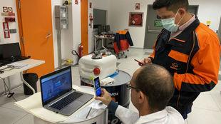 El laboratorio de Repsol Honda, durante el tutorial