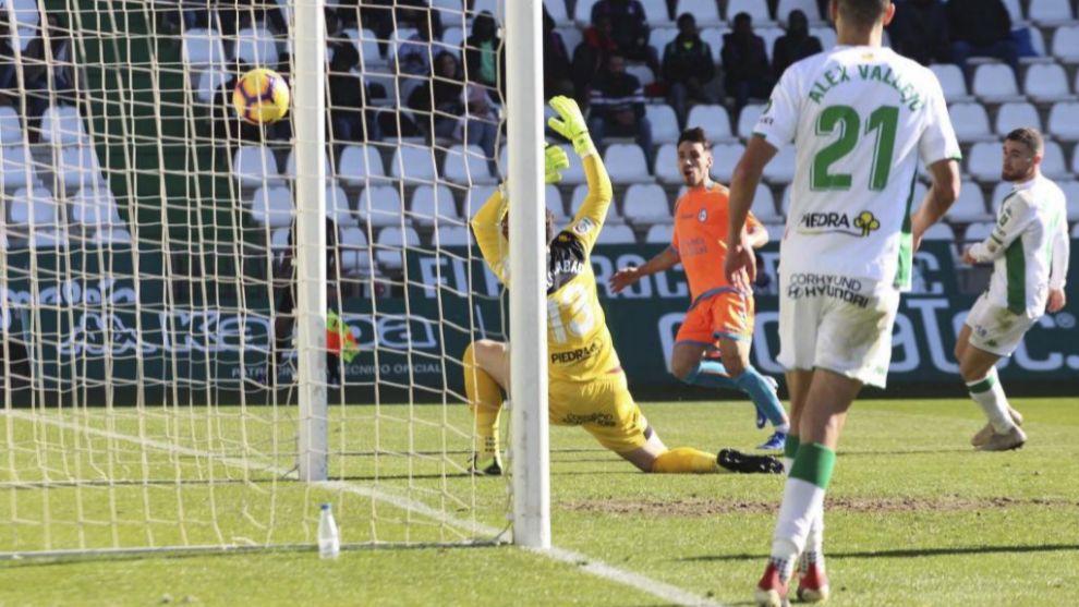 Imagen del partido entre Córdoba y Rayo Majadahonda de la pasada...