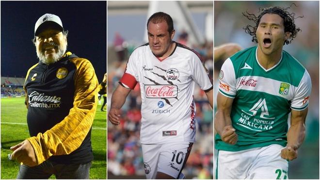 Maradona, Cuauhtémoc Blanco y León, en la historia del Ascenso MX.