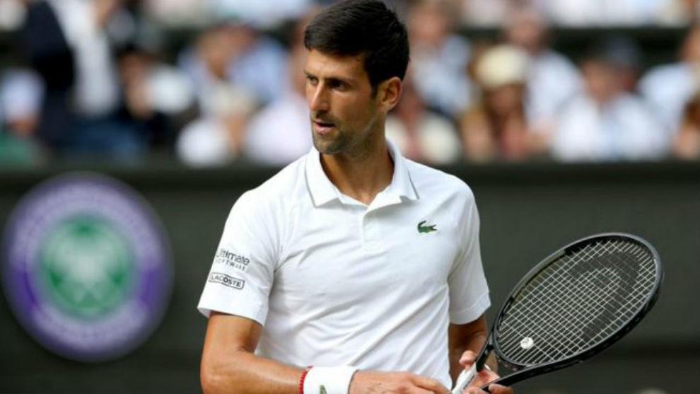 Djokovic, durante Wimbledon