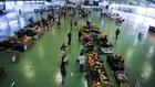 El mercado de frutas de Caldas de Rainha volvió a abrir el sábado...