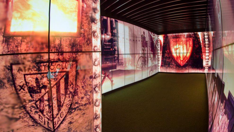 Imagen del museo del Athletic, donde se exhiben trofeos y recuerdos de...