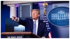 Trump, durante su última rueda de prensa.