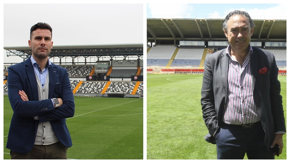 Álvaro Trigo y Felipe Llamazares, directores deportivos de Badajoz y...