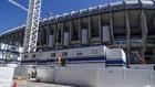 El Santiago Bernabéu, en obras.