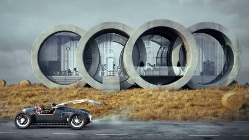 La última creación de la serie de casas inspiradas en logos de...