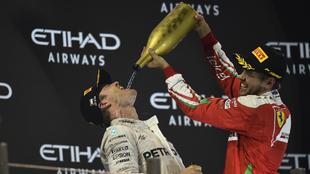 Vettel y Rosberg, en 2016.