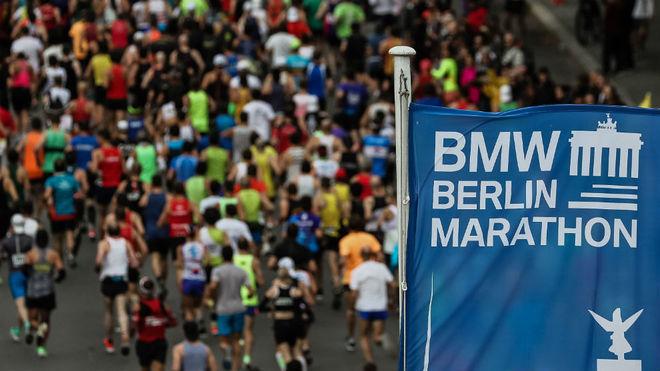 Corredores, en el maratón de Berlín