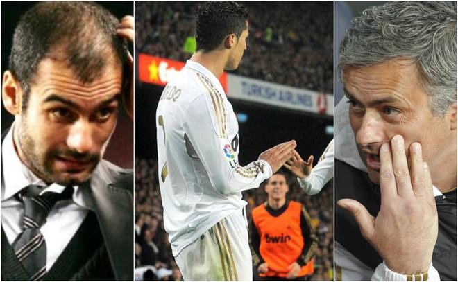 Guardiola, Cristiano and Mourinho