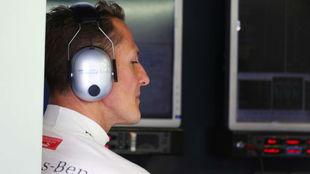 Schumacher, durante el Gran Premio de Japón 2012.