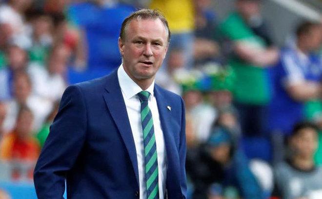 Michael O'Neill, durante la Eurocopa 2016.