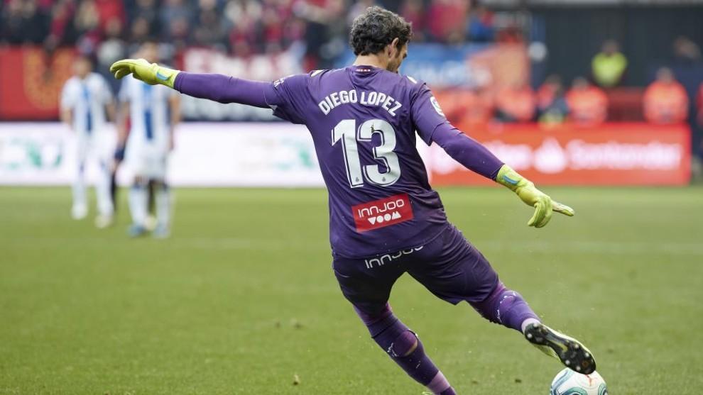 Diego López, en un partido.